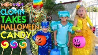 Download CLOWN TAKES OUR HALLOWEEN CANDY! - Family Fun Pack Skit Video