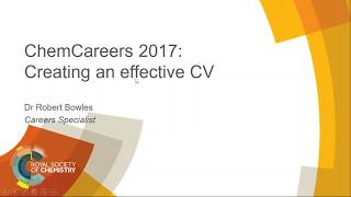 Download ChemCareers 2017 Creating an effective CV Video