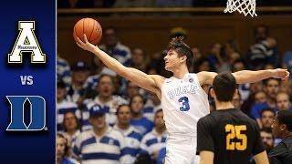 Download Duke vs. Appalachian State Men's Basketball Highlights (2016-17) Video