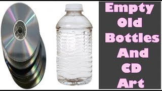 Download Best out of waste / How to recycle waste bottle and CD / how to use waste product / Amazing art Video