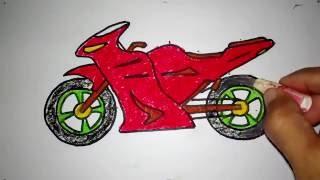Download cara menggambar sepeda motor boy anak jalanan Video
