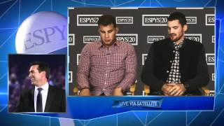 Download ESPYS: Blake Griffin And Kevin Love Can't Hear Rob Video