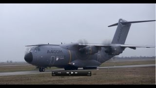 Download Airbus A400M and A310 Luftwaffe visits AIRBUS Bremen 04/12/12 Video