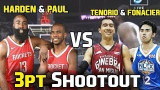 Download James Harden and Chris Paul vs LA Tenorio and Larry Fonacier in 3-Point Shootout Video