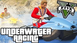 Download CRAZY NEW UNDERWATER CAR RACES!! - GTA V FUNNY MOMENTS!! #2 Video