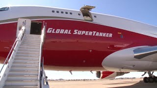 Download 747 SuperTanker joins California's firefighting fleet Video