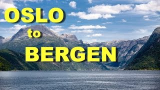 Download Oslo to Bergen, Norway by Train through the mountains and Boat through the fjords Video