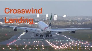 Download Storm Eleanor Great Piloting skills Airbus A380 Crosswind Landing and Takeoff Birmingham airport Video
