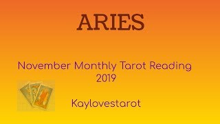 Download ARIES NOVEMBER 2019 MONTHLY TAROT READING Video