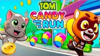 Download ГОВОРЯЩИЙ ТОМ БЕГ ЗА СЛАДОСТЯМИ #1 ДРУЗЬЯ Бен Хэнк Джинджер! Игровой мультик Talking Tom Candy Run Video