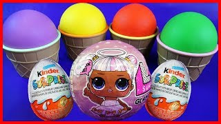Download 4 Colors Play Doh Ice Cream Cups LOL Doll, Paw Patrol,Super Mario, Kinder Surprise Eggs Toys Video