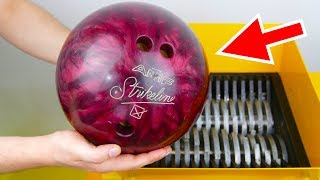 Download WHAT HAPPENS IF YOU DROP BOWLING BALL INTO THE SHREDDING MACHINE? Video