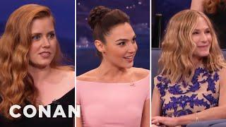 Download Amy Adams' Girl Crush On Holly Hunter & Gal Gadot - CONAN on TBS Video