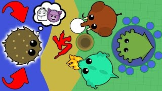 Download 1 PUFFERFISH vs. 1 Dragon + 1 Kraken + 1 Mammoth! BEST TROLLING EVER WITH PUFFERFISH! (Mope.io) Video