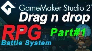 Download - Game Maker Studio 2: Turn based rpg battle system tutorial PART#1 - no coding ( DnD) Drag and Drop Video