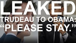 Download LEAKED: Phone call between Justin Trudeau and Barack Obama about Trump's win Video