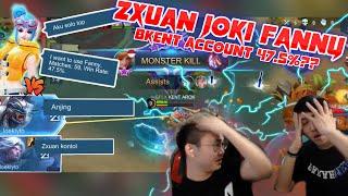 Download ZXUAN Joki BRANDON KENT account FANNY 47.5% WR in Rank?? Teammate Ngatain Anj*ng!! Video