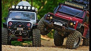 Download Traxxas TRX4 Defender & Axial SCX10 II Jeep Wrangler JK Rubicon Hiking # Video