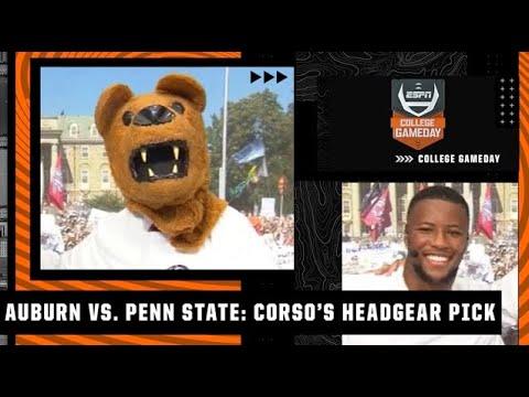Lee Corso's headgear pick for Auburn vs. Penn State with Saquon Barkley | College GameDay