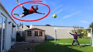 Download JUMPING OFF MY ROOF FOOTBALL CHALLENGE!! Video