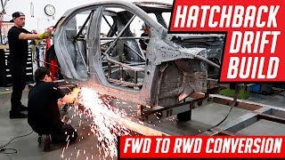 Download Drift Car Build FWD Corolla Hatchback to RWD 1000 Horsepower Conversion Video