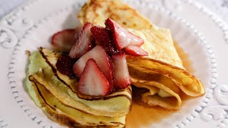 Download Curtis Stone's Crêpes with Homemade Ricotta and Maple-Strawberry Syrup Video