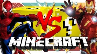 Download Minecraft: HERO LUCKY BLOCK CHALLENGE | IRON MAN VS SPIDER MAN!! Video