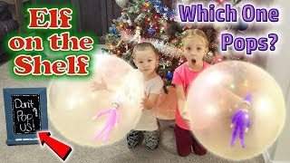 Download Purple & Pink Elf on the Shelf - Elves Caught in Giant Balloons! One POPS!!! Day 20 Video