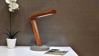 Download Diy LED Desk Lamp With Concrete Base Video