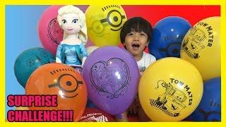 Download TOYS SURPRISES GIANT BALLOON DROP POP CHALLENGE Kid Video Frozen Elsa doll Ryan ToysReview Video