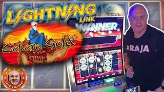 Download ⚡$75 A SPIN! ⚡HUGE WIN on Lightning Link Sahara Gold! 🎰 Video