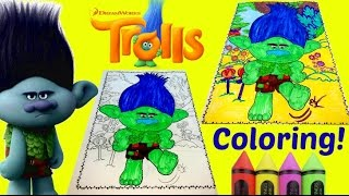 Download Do It Yourself Dreamworks Trolls Coloring Grumpy Branch Sad Coloring Book Video