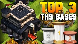 Download Clash of Clans | TOP 3 BEST TH9 Farming Base 2017 | CoC NEW Town Hall 9 Defense Strategy [TH9 2017] Video