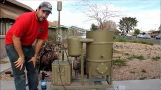 Download amazing homemade gasifier uses wood pellets to run generator - renewable alternative energy video Video