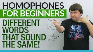 Download English Homophones for Beginners – different words that sound the same! Video