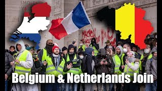 Download Belgium & Netherlands Join Yellow Vest Protests: Macron To Address France Riots! Video