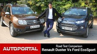 Download Renault Duster Vs Ford EcoSport Test Drive Comparison - Autoportal Video
