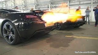 Download McLaren 12C + Aventador Roadster Shooting Flames! Video