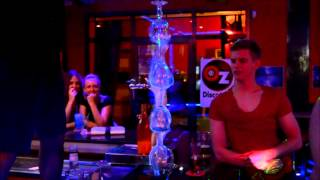 Download Flaming Lamborghini @ legends bar spain flaming burning cocktail trick Video