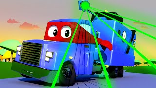 Download Carl the Super Truck - The MULTIPLIABLE POLICE Trucks - Car City ! Cars and Trucks Cartoon for kids Video