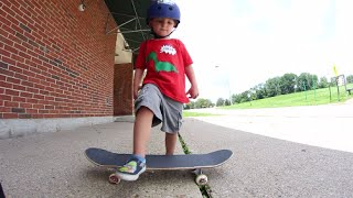 Download 3 Year Olds FIRST SKATEBOARD TRICK! Video