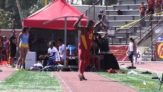 Download Adoree' Jackson long jump highlights vs. UCLA at dual meet Video