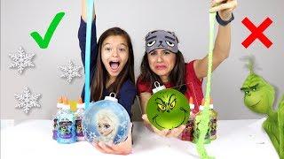 Download COLORINDO ENFEITE COM 3 CORES DE SLIME!! Desafio Divertido de Natal!! Video