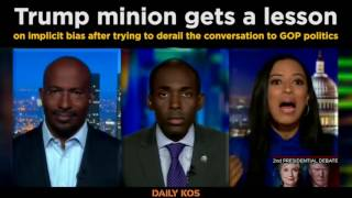 Download Trump minion gets a lesson on implicit bias after trying to derail the conversation to GOP politics Video