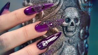 Download Goth •Special• Sculpted Acrylic Nails 🗡️ Video