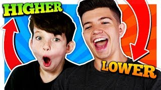 Download HIGHER or LOWER CHALLENGE with my LITTLE BROTHER! Video