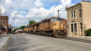 Download Walking Along CSX Street Running Train In The Middle Of Main Street! 2 Block Walk By Huge Train! Video