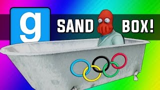 Download Gmod: Winter Olympics - Sled Build Race & Chaos! (Garry's Mod Sandbox Funny Moments) Video