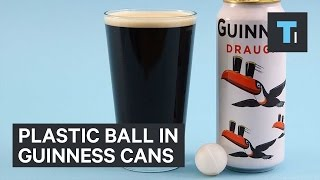 Download Plastic ball in Guinness cans Video