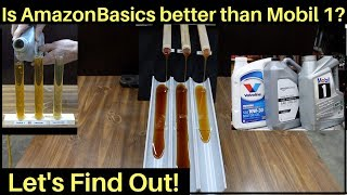 Download Is AmazonBasics Full Synthetic Motor Oil better than Mobil 1? Let's find out! Video